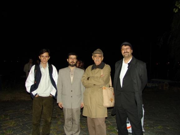 از سمت راست دکتر اکبر ایرانی، استاد ایرج افشار، سید صادق حسینی اشکوری و علی صفری آق قلعه