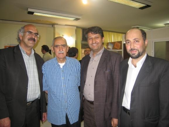از سمت راست شهروز نباتی، اکبر ایرانی، ایرج افشار و سیدعلی آل داود