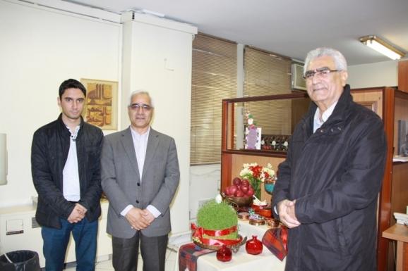 از راست: جواد محمدی خمک، سیستان پژوه - منصور صفت گل، استاد گروه تاریخ دانشگاه تهران و سپهر صفت کل