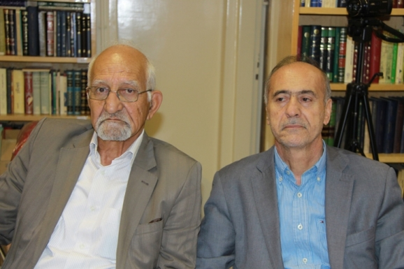 از راست: محمدحسین ساکت و غلامرضا جمشیدنژاد اول