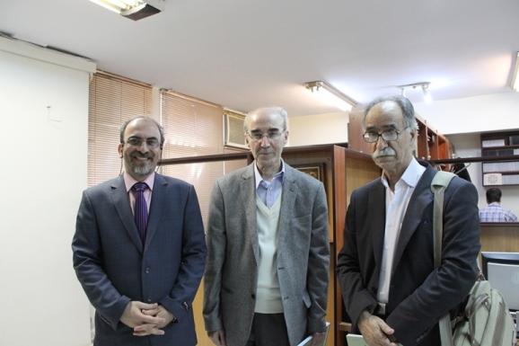 از سمت راست دکتر محمود عادبدی، دکتر علی اشرف صادقی و فرزاد ضیایی حبیب آبادی