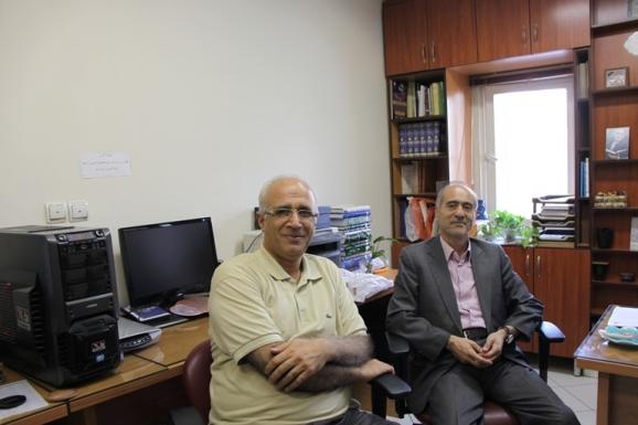 از راست: محمدحسین ساکت و علی میرانصاری