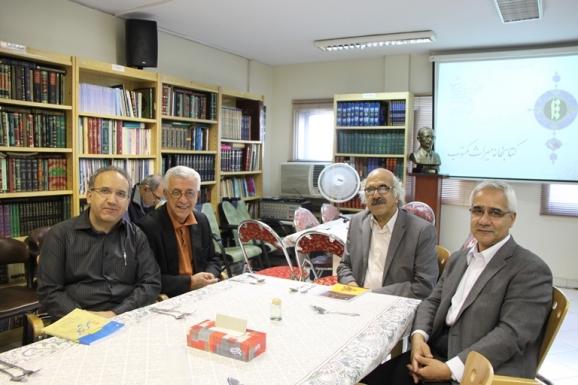 از راست: دکتر منصور صفت گل، سید علی آل داوود، میرهاشم محدث و سید سعید میرمحمدصادق