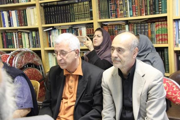 از راست: محمدحسین ساکت و میرهاشم محدث