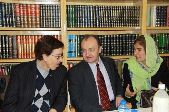 همسر سفیر محترم مجارستان، یانوش کوواچ- سفیر محترم مجارستان ، دکتر علی اشرف مجتهد شبستری
