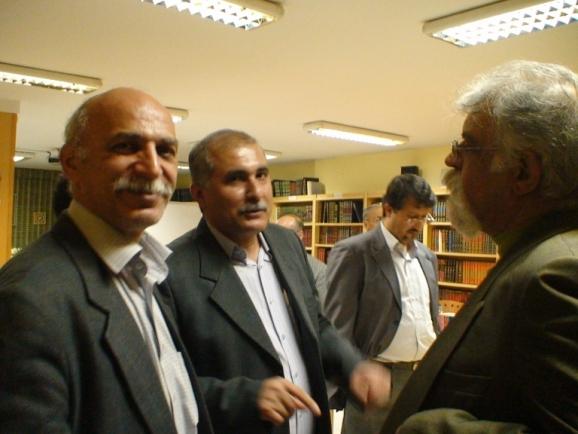 از راست: جمشید کیانفر، عسکر بهرامی و زنده یاد محسن جعفری مذهب