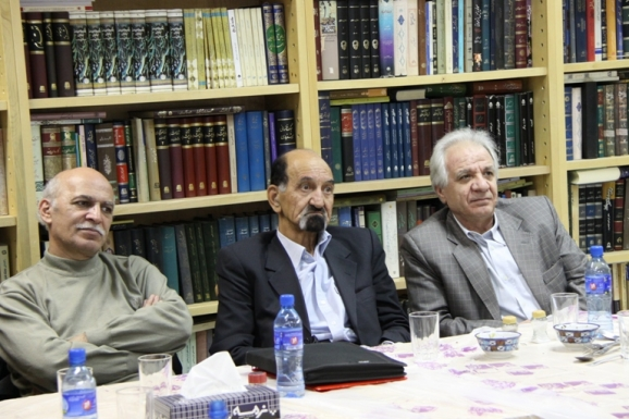 از راست: محمد ابراهیم ذاکر، غلامرضا جمشیدنژاد اول و زنده یاد محسن جعفری مذهب